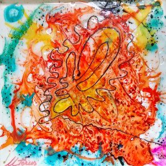 L'Utérus... Au coeur de moi au coeur des autres Le coeur de moi, le coeur des autres là où palpite, s'excite, et se crée...le monde Ce monde à l'image d'eux (2) ...d'elles (d'ailes). L.